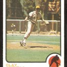 San Diego Padres Clay Kirby 1973 Topps Baseball Card # 655 ex/nm