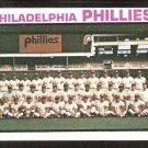 Philadelphia Phillies Team Card 1973 Topps Baseball Card # 536 nr mt