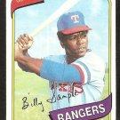 Texas Rangers Billy Sample 1980 Topps Baseball Card # 458 nr mt