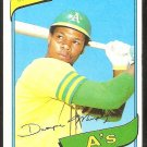 Oakland Athletics Dwayne Murphy 1980 Topps Baseball Card # 461 nr mt