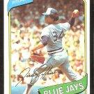 Toronto Blue Jays Jesse Jefferson 1980 Topps Baseball Card # 467 nr mt