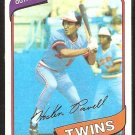 Minnesota Twins Hosken Powell 1980 Topps Baseball Card # 471 nr mt