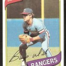 Texas Rangers Bump Wills 1980 Topps Baseball Card # 473 nr mt