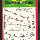 CLEVELAND INDIANS RED TEAM CHECKLIST 1974 TOPPS G/VG
