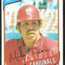 St Louis Cardinals Mike Tyson 1980 Topps Baseball Card # 486 nr mt