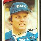 Chicago White Sox Wayne Nordhagen 1980 Topps Baseball Card # 487 nr mt