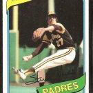 San Diego Padres Steve Mura 1980 Topps Baseball Card # 491 nr mt