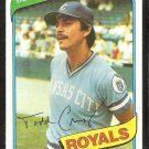 Kansas City Royals Todd Cruz 1980 Topps Baseball Card # 492 nr mt