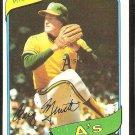 Oakland Athletics Craig Minetto 1980 Topps Baseball Card # 494 nr mt