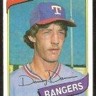 Texas Rangers Danny Darwin 1980 Topps Baseball Card # 498 nr mt