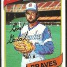 Atlanta Braves Gene Garber 1980 Topps Baseball Card # 504 nr mt