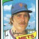 New York Mets Ed Glynn 1980 Topps Baseball Card # 509 nr mt