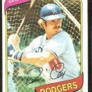 Los Angeles Dodgers Ron Cey 1980 Topps Baseball Card # 510 nr mt