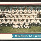 MINNESOTA TWINS TEAM CARD 1974 TOPPS # 74 VG/EX