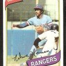 Texas Rangers Nelson Norman 1980 Topps Baseball Card # 518 nr mt