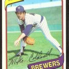 MILWAUKEE BREWERS MIKE CALDWELL 1980 TOPPS # 515 EX/NM