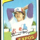 Montreal Expos Steve Rogers 1980 Topps Baseball Card # 520 ex mt