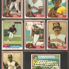 1981 Topps San Diego Padres Team Lot Ozzie Smith Rollie Fingers Team Card Gene Tenace Randy Jones