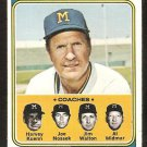 Milwaukee Brewers Del Crandell and Coaches 1974 Topps Baseball Card # 99 vg