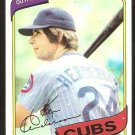 Chicago Cubs Ken Henderson 1980 Topps Baseball Card # 523 nr mt
