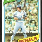 Kansas City Royals Clint Hurdle 1980 Topps Baseball Card # 525 nr mt