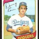 Los Angeles Dodgers Doug Rau 1980 Topps Baseball Card # 527 nr mt