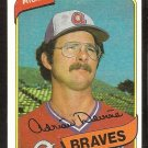 Atlanta Braves Adrian Devine 1980 Topps Baseball Card # 528 nr mt