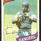 Texas Rangers Jim Sundberg 1980 Topps Baseball Card # 530 nr mt