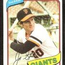 San Francisco Giants Joe Strain 1980 Topps Baseball Card # 538 nr mt