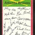 1974 Topps Baseball Card  Atlanta Braves Red Team Checklist unmarked g/vg