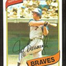 Atlanta Braves Jeff Burroughs 1980 Topps Baseball Card # 545 nr mt