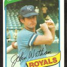 Kansas City Royals John Wathan 1980 Topps Baseball Card # 547 nr mt