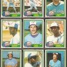 1981 Topps Toronto Blue Jays Team Lot Dave Stieb Lloyd Moseby RC Alfredo Griffin Jim Clancy Whitt