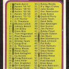 1974 TOPPS CHECKLIST # 126 CARDS # 1-132 VG/EX MARKED