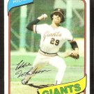 San Francisco Giants Ed Whitson 1980 Topps Baseball Card # 561 nr mt