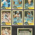 1981 Topps Seattle Mariners Team Lot Bruce Bochte Julio Cruz Floyd Bannister Tom Paciorek Team Card