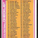 1978 Topps Football Card Checklist # 107 cards 1-132 unmarked ex