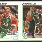 BOSTON CELTICS LARRY BIRD ON 1991 HOOPS/OSCO 3 CARD PANEL