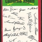 California Angels Red Team Checklist 1974 Topps Baseball Card g/vg unmarked