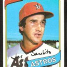 Houston Astros Joe Sambito 1980 Topps Baseball Card # 571 nr mt