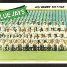 Toronto Blue Jays Team Card 1980 Topps Baseball Card # 577 nr mt unmarked checklist