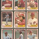 1981 Fleer Philadelphia Phillies Team Lot Pete Rose Mike Schmidt Steve Carlton Larry Bowa Tug McGraw