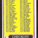 1980 TOPPS CHECKLIST # 391 CARDS 265-396 EX UNMARKED