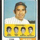 New York Mets Yogi Berra and Coaches 1974 Topps Baseball Card # 179 em/nm