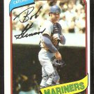 SEATTLE MARINERS BOB STINSON 1980 TOPPS # 583 NR MT