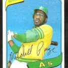 Oakland Athletics Mitchell Page 1980 Topps Baseball Card # 586 nr mt