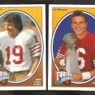 SAN Francisco 49ers Joe Montana 1991 Upper Deck Football Heroes # 2 & 3 Forty Niners