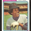 Chicago Cubs Jose Cardenal 1974 Topps Baseball Card # 185 vg/ex