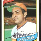 Houston Astros Jesus Alou 1980 Topps Baseball Card # 593 nr mt