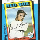 Boston Red Sox Fred Lynn 1982 K Mart MVP Baseball Card ex/nm